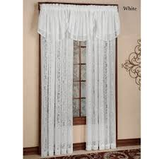 Textured Cotton Tie Top Drape by Mia Damask Lace Window Treatment