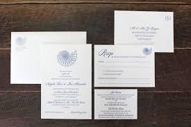 Wedding Invitations Brisbane Little Peach Nautilus Navy Letterpress