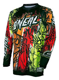 black motocross gear o u0027neal youth element vandal jersey revzilla