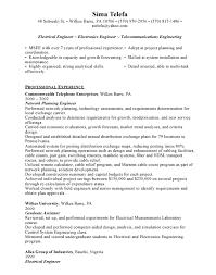 electrical engineering resume in arizona sales engineering