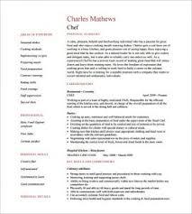 Cook Resume Template Stylish Design Ideas Chef Resume Sample 7 Chef Resume Template 11