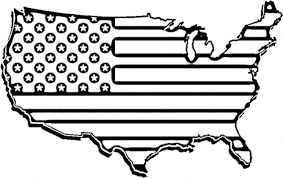 Printable United States Map United States Flag Coloring Pages Printable