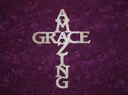 amazing grace cross unfinished wood christmas cross 7 x 11 inch