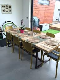 dining table industrial chic dining table uk room style set