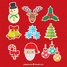 assorted stickers of ornaments and characters vector