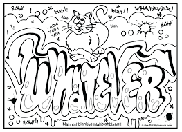 alphabet coloring pages free printable graffiti letters fonts a z