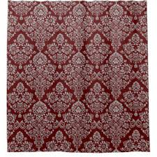 Red And Gold Damask Curtains Damask Shower Curtains Zazzle