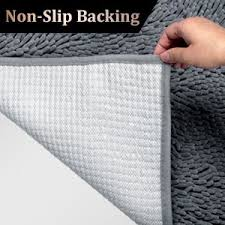Can You Put Bathroom Rugs In The Dryer Amazon Com Vdomus Non Slip Microfiber Shag Bathroom Mat 20 X 32