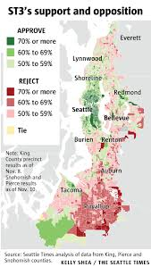 Renton Washington Map by See How The Sound Transit Vote Went In Your Neighborhood U2014 And