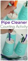 pipe cleaner counting activity for kids counting activities