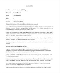 Job Desk Safety Officer Sample Civil Engineer Job Description 8 Examples In Pdf Word