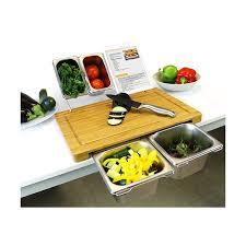 planche à découper cuisine planche à découper et ses 5 bacs intégrés vivre mieux