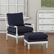 Lind Ottoman Lind Navy Chair And Ottoman