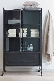 cabinet steel storage soft plaids metal glass bepurehome