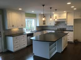 Finished Kitchen Cabinets by Painting Kitchen Cabinets White Monk U0027s Home Improvements