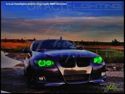 light green bmw oracle 06 11 bmw 3 series 4dr led dual color halo rings headlights