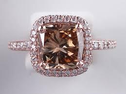 chocolate wedding rings 3 08 ctw cushion cut engagement ring chocolate vs2