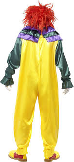 scary clown costumes smiffys men s classic horror clown costume clothing