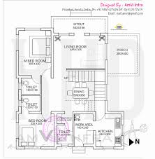 Cube House Floor Plans Floor Plan And Elevation Of Flat Roof Villa Home Kerala Plans