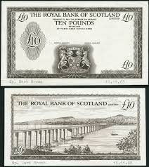 banknote yearbook royal bank of scotland limited obverse and die proof 10