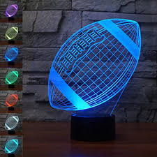 rugby 3d lamp optical illusion night light jawell 7 color