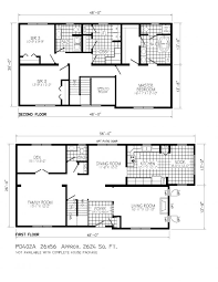apartments 2 story house floor plans story modern house plans