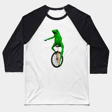 Unicycle Meme - dat boi frog on unicycle meme baseball t shirt teepublic