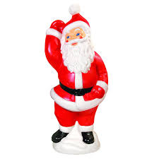 Lighted Santa And Reindeer Outdoor by The Best Lighted Blow Mold Christmas Decorations
