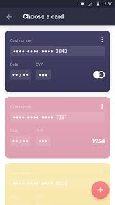 confirm your order choose card banks ux color