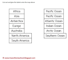 label the continents and oceans worksheet free worksheets library