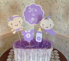 lavender baby shower decorations baby shower centerpiece set of 5 picks baby shower gift its a