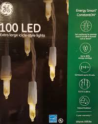 Amazon Com Holiday Wonderland 100 by Amazon Com Ge 100 Count Led Mini White Christmas Icicle String