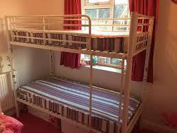 Small Single Ft  White Bunk Beds Argos Mattresses Hardly Used - Small single bunk beds