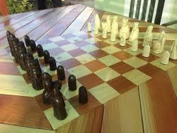 Diy Chess Set Diy Chess Board Patio Table Album On Imgur