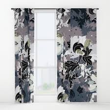 Vintage Floral Curtains Vintage Floral Black Window Curtains By Anarutbre Society6