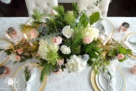 christmas table flower arrangement ideas creating a copper christmas table kelley nan pink flowers idolza