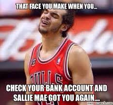Sallie Mae Memes - student loans a year without facebook