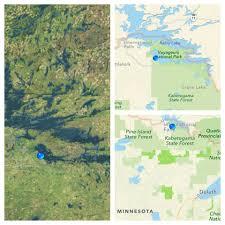 Table Rock Lake Map Lake Kabetogama Voyageur National Park Resorts Northern Lights