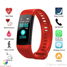 blood pressure wrist bracelet images Y5 smart wristband electronics bracelet color lcd watch activity jpg