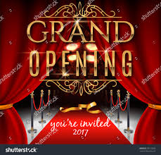 Opening Ceremony Invitation Card Design Grand Opening Invitation Card Red Theater Stock Vector 560172835