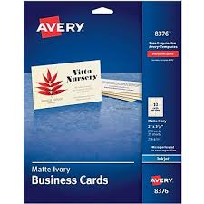 Free Avery Business Card Template by Avery皰 Inkjet Business Cards Ivory 2 X 3 1 2 250 Cards Staples