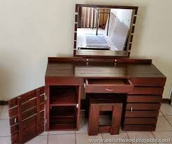 Dressing Table Idea Pallet Dressing Tables With Mirror Pallet Wood Projects