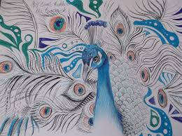 the peacock wip pen drawing by dustywallpaper on deviantart