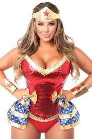 Corset Halloween Costumes Size Red Drawer Size Premium 4 Pc Superhero Corset Costume