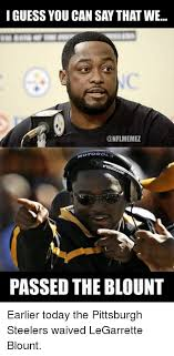 Pittsburgh Steelers Memes - i guess you can say that we memez passed the blount earlier today