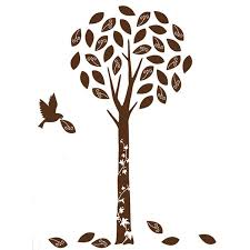 brown tree velvet tree wall stickers brown kids and home wall stickers