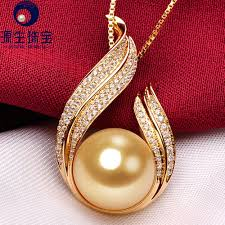 aliexpress pearl necklace images Buy golden south sea pearl pendant necklace with jpg