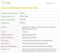 printable meeting minutes templates