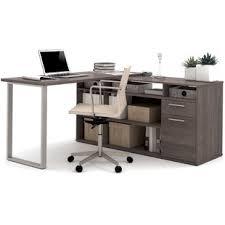 Computer Desk L Shape Modern Gray Desks Allmodern