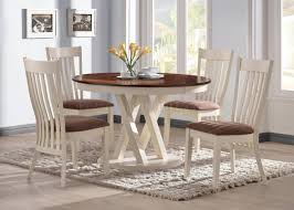 104341 naomi 5pc dining set by coaster in two tone w options
